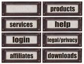 E-commerce websiite word set — Stock Photo