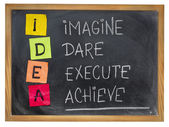 Idea - motivation concept — Stock Photo