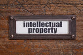 Intellectual property label — Stock Photo