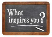What inspires you question — ストック写真