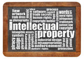 Intellectual property word cloud — Stock Photo