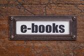 E-books - file cabinet label — Foto Stock