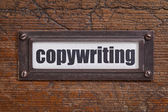 Copywriting - file cabinet label — Stock Photo