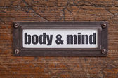 Body and mind  label — Stock Photo
