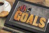 2015 goals on digital tablet — Stock Photo