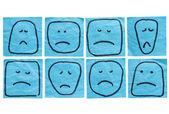 Unhappy faces — Stock Photo
