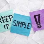 Постер, плакат: Keep it simple