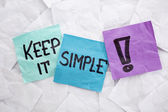 Keep it simple — Stock Photo