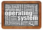 Operating system word cloud — Foto de Stock