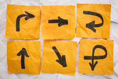 Confusing directions — Stock Photo