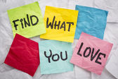 Find what you love advice  — Stock Photo
