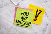 You are unique reminder — Stock Photo