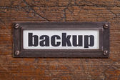 Backup - file cabinet label — Stockfoto