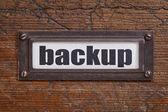Backup - file cabinet label — Stock Photo