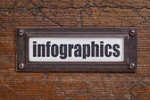 Infographics- file cabinet label — Stockfoto