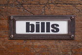 Bills - file cabinet label — Stockfoto