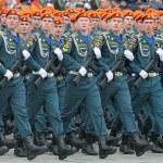 Постер, плакат: Rehearsal of parade of a victory