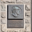 Yuri Andropov memorial plaque in Moscow - Stock Photo