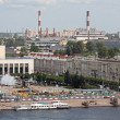 View of the river Neva of St. Petersburg with the colonnade of St. Isaac's SWAT — Stockfoto