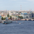 Cruiser Avrora in the city Sankt-Peterburg — Stock Photo