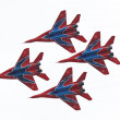 Mig-29 group — Stock Photo