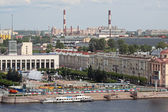 View of the river Neva of St. Petersburg with the colonnade of St. Isaac's SWAT — Foto Stock