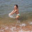 Girl in sea — Stock Photo #18454071