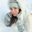 The girl in snow — Stock Photo