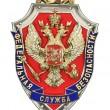 Coat of arms Federal Security Service of the Russian Federation (FSB), isolated on a white background - Stock Photo