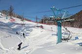 Ski Lift at Ski Resort — Stock Photo