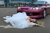 The bride crushed — Stock Photo