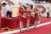 Awarding winners — Stock Photo