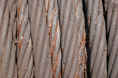 Background from a thick old steel rope in greasing — Stock Photo