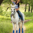 Horsewoman — Stock Photo #18717733