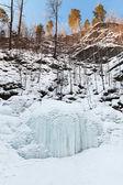 Donmuş şelale — Stok fotoğraf