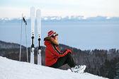 Pista de esqui — Foto Stock