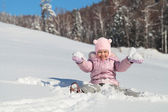 The girl in the snow — Stock Photo