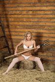 Vesnická dívka — Stock fotografie
