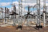 электрическая подстанция — Стоковое фото