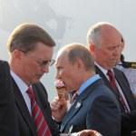 Постер, плакат: Vladimir Putin and Sergei Ivanov