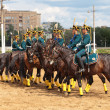 Постер, плакат: Demonstration performances of the riders in the costumes