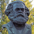 Постер, плакат: A bronze sculpture by Karl Marx in St Petersburg Russia