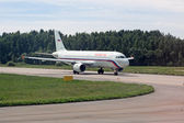 """Airbus A320 aircraft, the airline """"Russia"""" on the runway — Stock Photo"""
