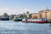 The oil tanker River waterfront in St. Petersburg — Stock Photo