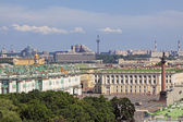 Views of St. Petersburg from the colonnade of St. Isaac's Cathedral — Stock Photo