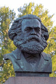 A bronze sculpture by Karl Marx in St. Petersburg, Russia. — Stock Photo