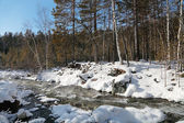 Russia, Siberia, Eastern Sayan mountains, the Kyngarga river win — Stock Photo