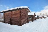 Siberian village — Stock Photo