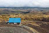 Hunting lodge in the mountains. Kamchatka — Stock Photo