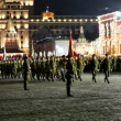 Stock Video: Night rehearsal of parade on Red Square on May 03, 2012 in Moscow. rehearsal is to celebrate upcoming 67th Anniversary of Victory Day (WWII) on May 9th.
